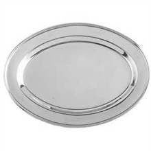 Serving Trays: Stainless Steel 13x22 Oval