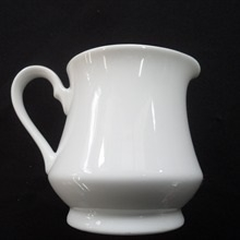 White Contemporary : 6 oz Creamer