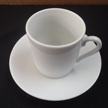 White Contemporary : 6 oz Demitasse cup w/saucer