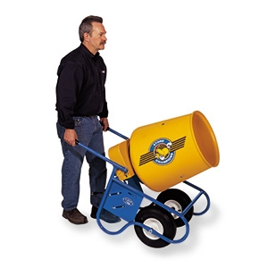 25CMP Concrete Mixer 1/3 hp Electric Wheelbarrow Style