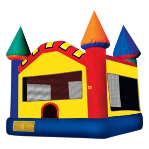 Castle bounce house (aka bounce house, inflatable, moonwalk, jump)