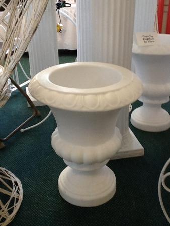 Plastic White Urn