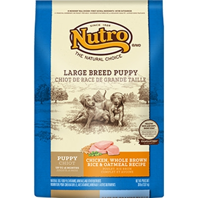 Large Breed Puppy Food with Chicken, Whole Brown Rice & Oatmeal, 15 lbs.