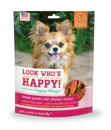 Look Who's Happy! Happy Wraps Sweet Potato with Chicken Dog Treats