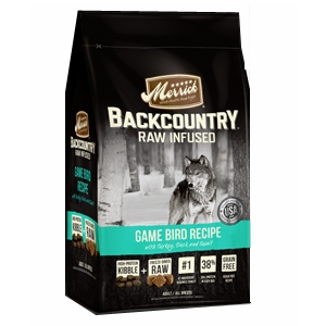 Merrick BackCountry Adult Dog FoodRaw Infused - Game Bird Recipe