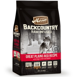 Merrick BackCountry Adult Dog FoodRaw Infused-Great Plains Red Meat Recipe