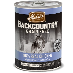 Merrick BackCountry Adult Dog Canned Food 96% Real Chicken