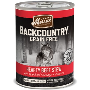 Merrick BackCountry Adult Dog Canned FoodHearty Beef Stew