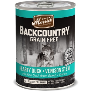 Merrick BackCountry Adult Dog Canned FoodHearty Venison Stew