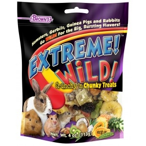 Brown's Extreme! Wild! Crunchy & Chunky Treats for Small Animals
