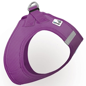 Curli Plush mesh vest Harness-Purple for Dogs