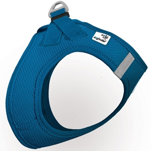 Curli Plush Vest Harness-Classic Blue for Dogs