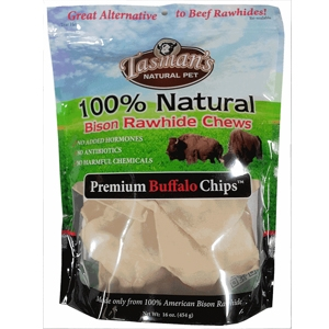 Tasman 100% Natural American Bison Rawhide Chips for Dogs