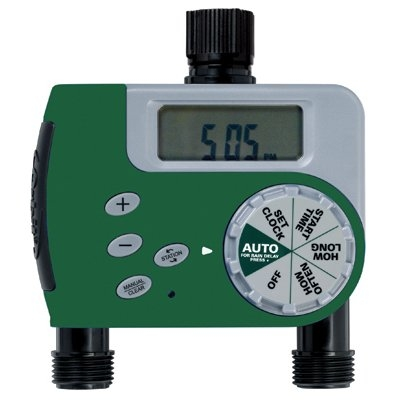 Green Thumb® Digital 2-Outlet Hose Watering Timer