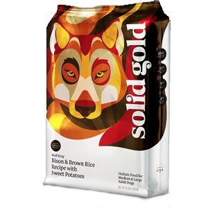 Solid Gold Dog Large Breed Wolf King Bison, 4 Lb
