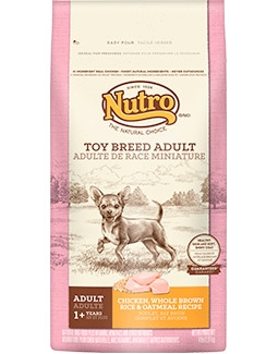 Nutro Toy Breed Adult Dog Food Chicken Whole Brown Rice & Oatmeal Recipe