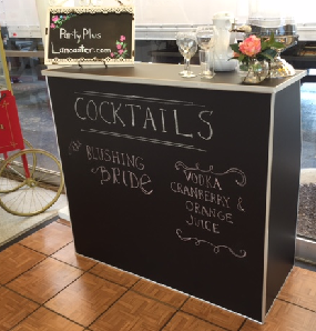 Chalkboard Portable Bar