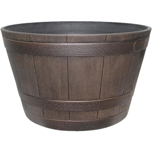Whiskey Barrel Garden Planter, 15.5 in.