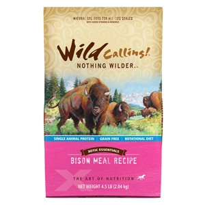 Xotic Essentials Bison Meal Recipe Dog Food