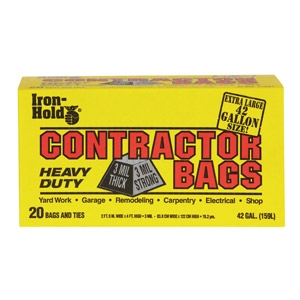 Iron-Hold® 42-Gal 20-Count Contractor Trash Bags