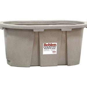 Behlen® Country 2' x 2' x 4' Round-End Poly Stock Tank