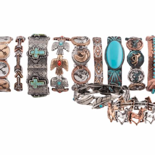 Pacific Silver Western Legends Stretch Bracelets