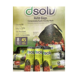 D-Solv Leaf Disposal Refill Bags - 8 pack