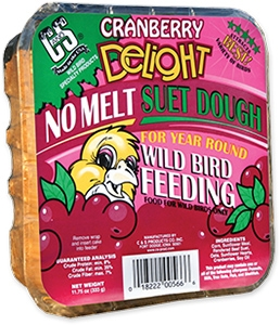 C&S Cranberry Delight No Melt Wild Bird Suet Dough