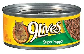 9 Lives Super Supper Cat Food 5.5 oz.