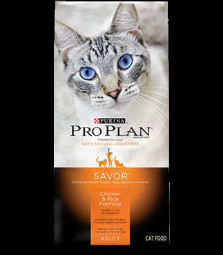 Purina Pro Plan Savor® Chicken & Rice Cat Food - 16 lbs.