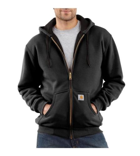 Carhartt Zip Hoodie Sweatshirt Black - 2XLarge