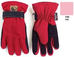 Ladies Canvas Glove - Pink