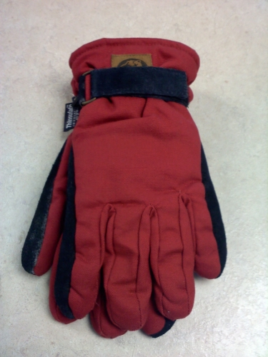 Ladies Canvas Glove - Red - SM/MED