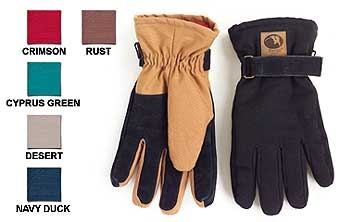 Lady Canvas Gloves - Red