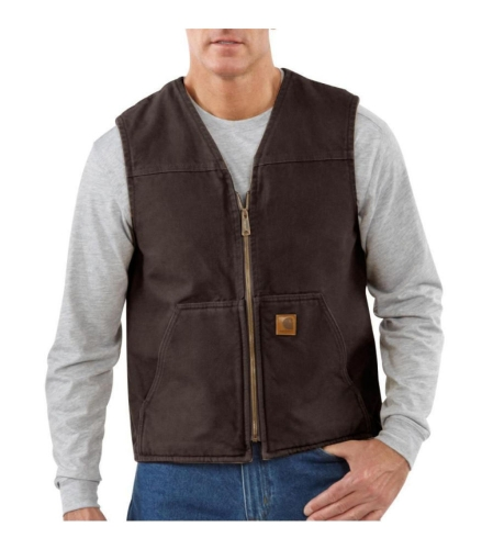 Sandstone Rugged Vest Dark Brown - 2XLarge