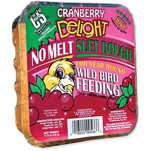 C&S Cranberry Delight Wild Bird No Melt Suet Dough