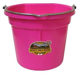20QT. Flat Back Bucket Hot Pink