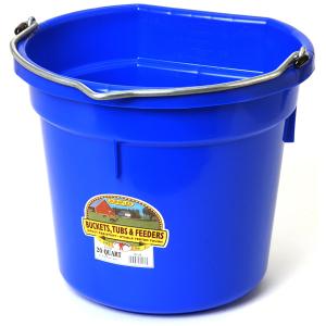 Duraflex 20 QT. Blue Flat Back Bucket