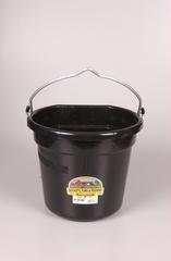 Duraflex 20 QT. Black Flat Back Bucket