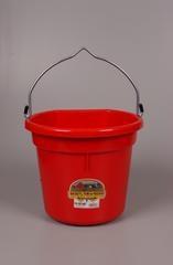 Duraflex Red 20QT. Flat Back Bucket