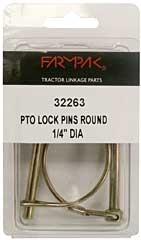 """PTO Pin-Round 1/4"""" 2-PK"""