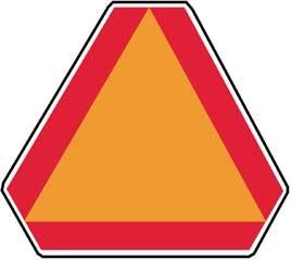 Slow Moving Vehicle (SMV) Emblem Aluminum