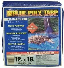 Weathermaster Original Blue Poly Tarp 12' X 16'