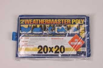 20' X 20' Weathermaster Poly Tarp Blue