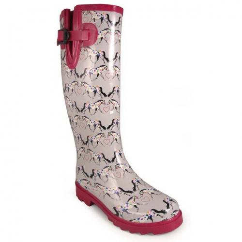 Smoky Mountain Rubber Boot - Gray Horseplay Print