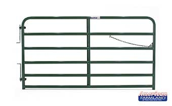 8' XHD Bull Gate - 6 Bar - Green