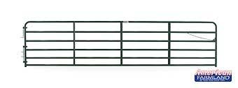 18' XHD Bull Gate - 6 Bar - Green