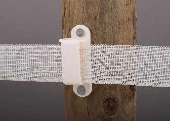 """Dare Wood Post Insulator 1-1/2"""" Tape White 25PK"""