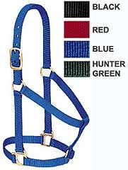 Basic Non-Adjustable Halter Average Horse-Red