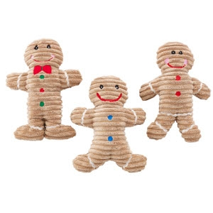 Holiday Corduroy Gingerbread Toy